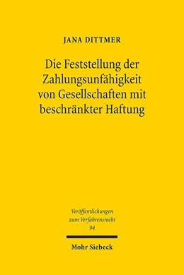 Abbildung von Dittmer   Die Feststellung der Zahlungsunfähigkeit von Gesellschaften mit beschränkter Haftung   1. Auflage   2013   94   beck-shop.de