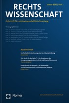 Rechtswissenschaft | 9. Jahrgang (Cover)