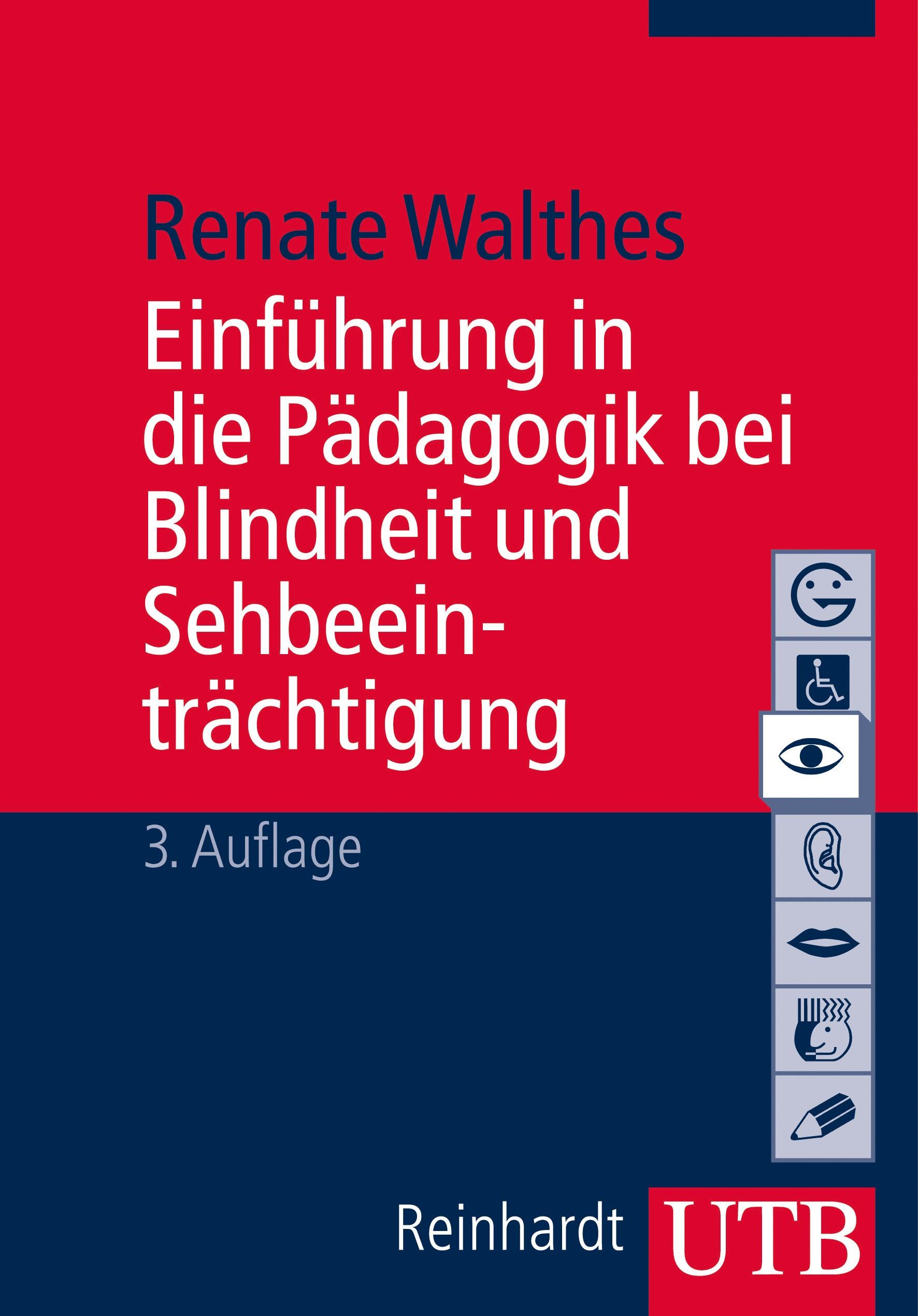 Einführung in die Blinden und Sehbehindertenpädagogik | Walthes | 3. überarbeitete Auflage, 2014 | Buch (Cover)