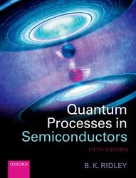 Quantum Processes in Semiconductors | Ridley, 2013 | Buch (Cover)