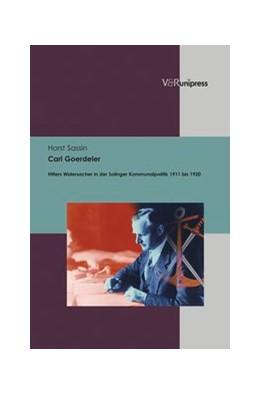 Abbildung von Sassin   Carl Goerdeler   2013   Hitlers Widersacher in der Sol...