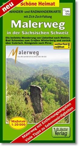 Abbildung von Radwander- und Wanderkarte Malerweg in der Sächsischen Schweiz 1:20000 | 1. Auflage, Laufzeit bis 2019 | 2013 | Die beliebte Wanderung von Lie...