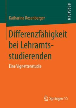 Abbildung von Rosenberger | Differenzfähigkeit bei Lehramtsstudierenden | 1. Auflage | 2013 | beck-shop.de
