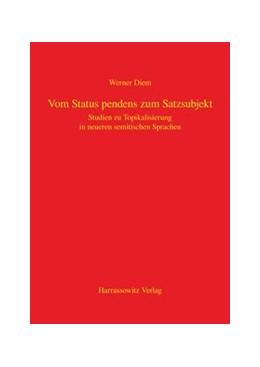 Abbildung von Diem | Vom Status pendens zum Satzsubjekt | 2013 | Studien zur Topikalisierung in...