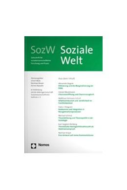 Abbildung von SozW - Soziale Welt | 70. Jahrgang | 2019 | Zeitschrift für sozialwissensc...