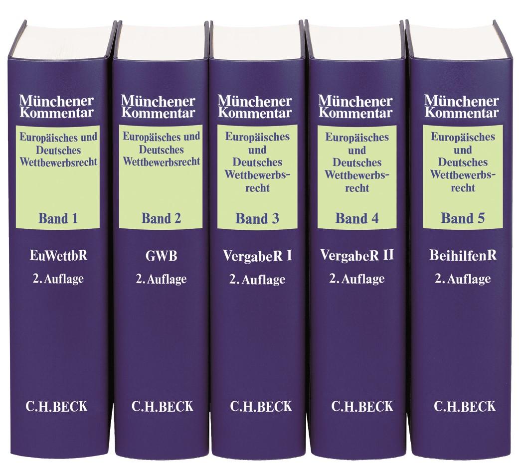Münchener Kommentar Europäisches und Deutsches Wettbewerbsrecht | 2. Auflage, 2018 | Buch (Cover)