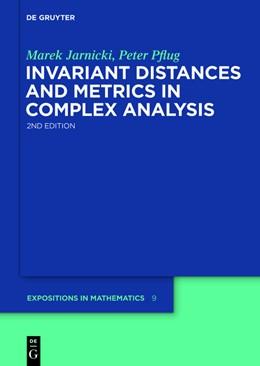 Abbildung von Jarnicki / Pflug | Invariant Distances and Metrics in Complex Analysis | 2nd ext. ed | 2013