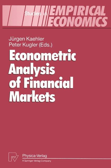 Econometric Analysis of Financial Markets | Kaehler / Kugler, 2012 | Buch (Cover)