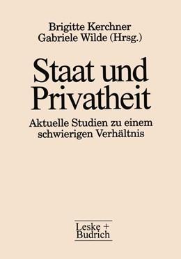 Abbildung von Kerchner | Staat und Privatheit | 1. Auflage | 2012 | beck-shop.de