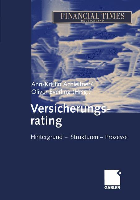 Abbildung von Achleitner / Everling   Versicherungsrating   2012