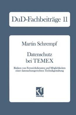Abbildung von Schrempf | Datenschutz bei TEMEX | 1. Auflage | 1990 | 11 | beck-shop.de