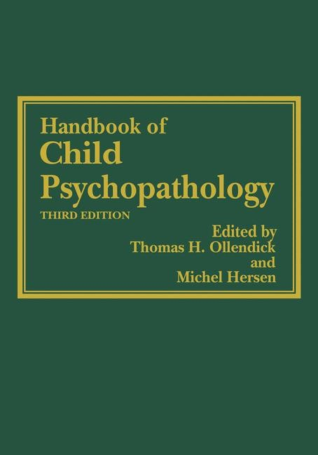Handbook of Child Psychopathology | Ollendick / Hersen, 2012 | Buch (Cover)