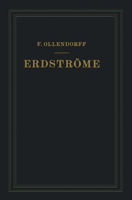 Erdströme | Ollendorff, 1928 | Buch (Cover)