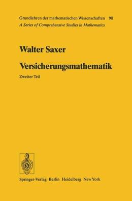 Abbildung von Saxer | Versicherungsmathematik | 2012 | 98