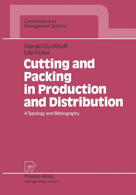 Cutting and Packing in Production and Distribution | Dyckhoff / Finke, 2012 | Buch (Cover)