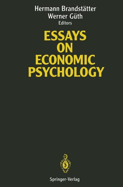 Essays on Economic Psychology | Brandstätter / Güth, 2012 | Buch (Cover)