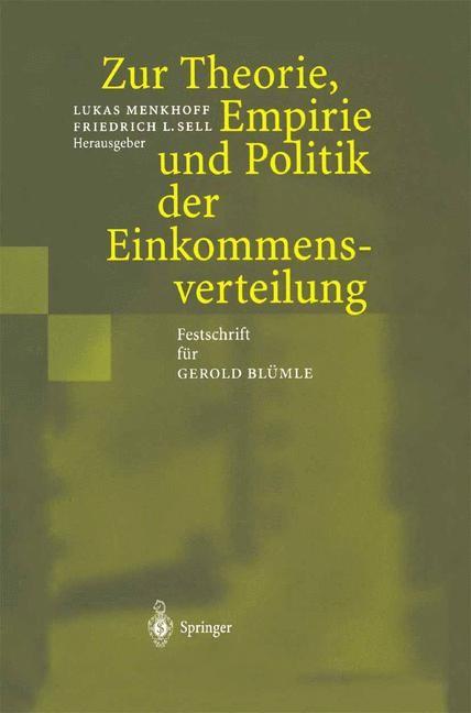 Abbildung von Menkhoff / Sell | Zur Theorie, Empirie und Politik der Einkommensverteilung | 2012