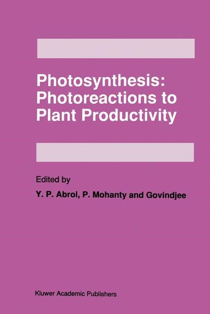 Abbildung von Abrol / Mohanty / Govindjee | Photosynthesis: Photoreactions to Plant Productivity | 1993 | 2012