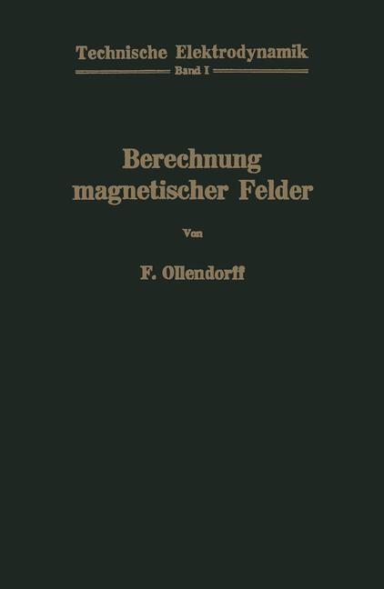 Berechnung magnetischer Felder | Ollendorff, 2012 | Buch (Cover)