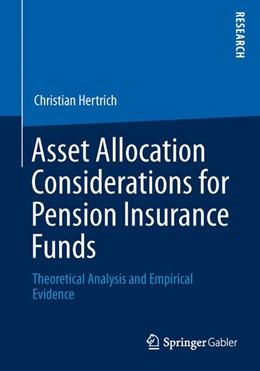 Abbildung von Hertrich | Asset Allocation Considerations for Pension Insurance Funds | 1. Auflage | 2013 | beck-shop.de