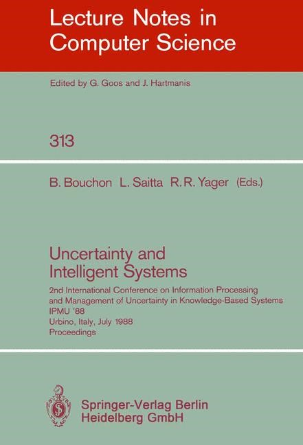 Uncertainty and Intelligent Systems | Bouchon / Saitta / Yager, 1988 | Buch (Cover)