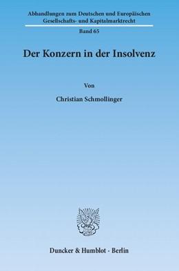 Abbildung von Schmollinger | Der Konzern in der Insolvenz | 2013 | 65