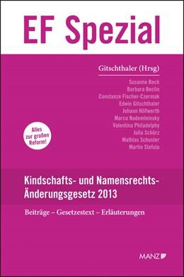 Abbildung von Gitschthaler   Kindschafts- und Namensrechts-Änderungsgesetz 2013   2013