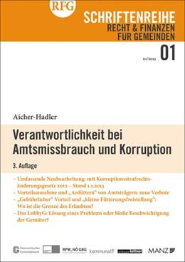 Abbildung von Aicher-Hadler | Verantwortlichkeit bei Amtsmissbrauch und Korruption | 3. Auflage 2013 | 2013 | 1/2013