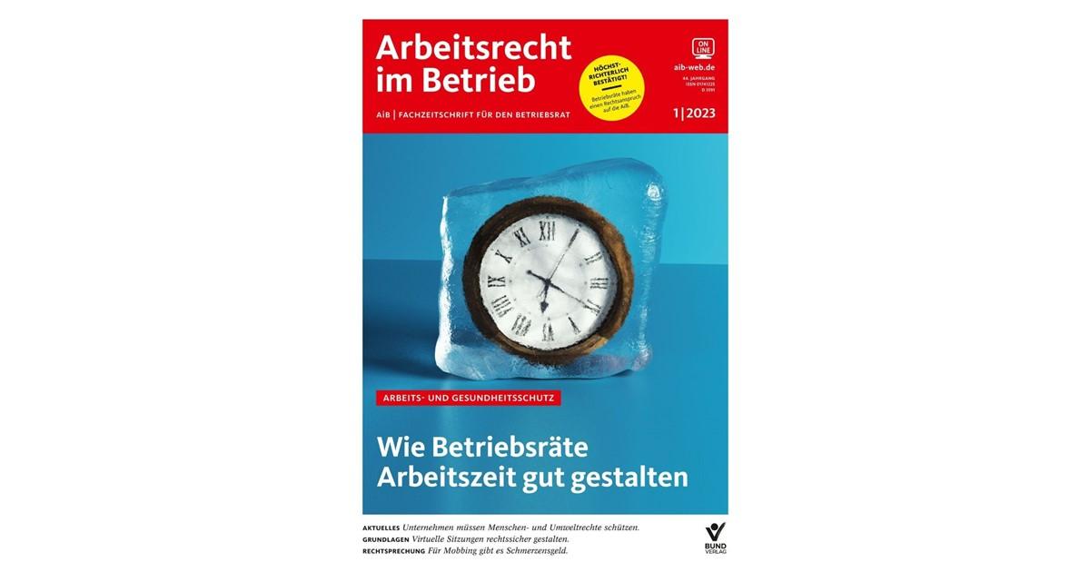 Aib Arbeitsrecht Im Betrieb 40 Jahrgang 2013 Beck Shopde