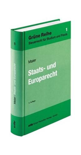 Abbildung von Maier   Staats- und Europarecht   5. Auflage   2013   Band 1