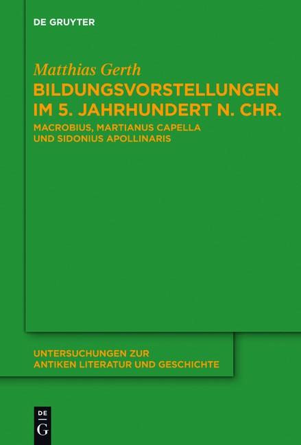 Abbildung von Gerth | Bildungsvorstellungen im 5. Jahrhundert n. Chr. | 2013