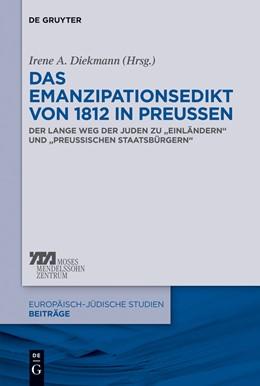Abbildung von Diekmann | Das Emanzipationsedikt von 1812 in Preußen | 1. Auflage | 2013 | 15 | beck-shop.de