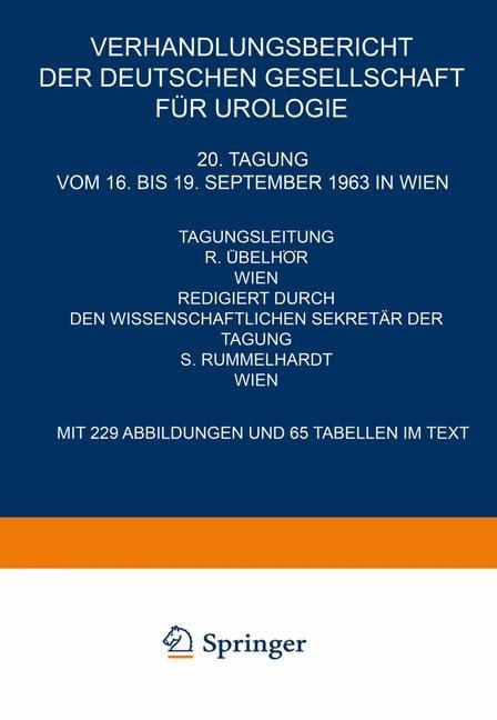20. Tagung vom 16. bis 19. September 1963 in Wien, 1965 | Buch (Cover)