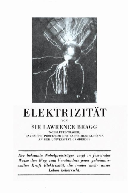 Elektrizität | Bragg, 1951 | Buch (Cover)
