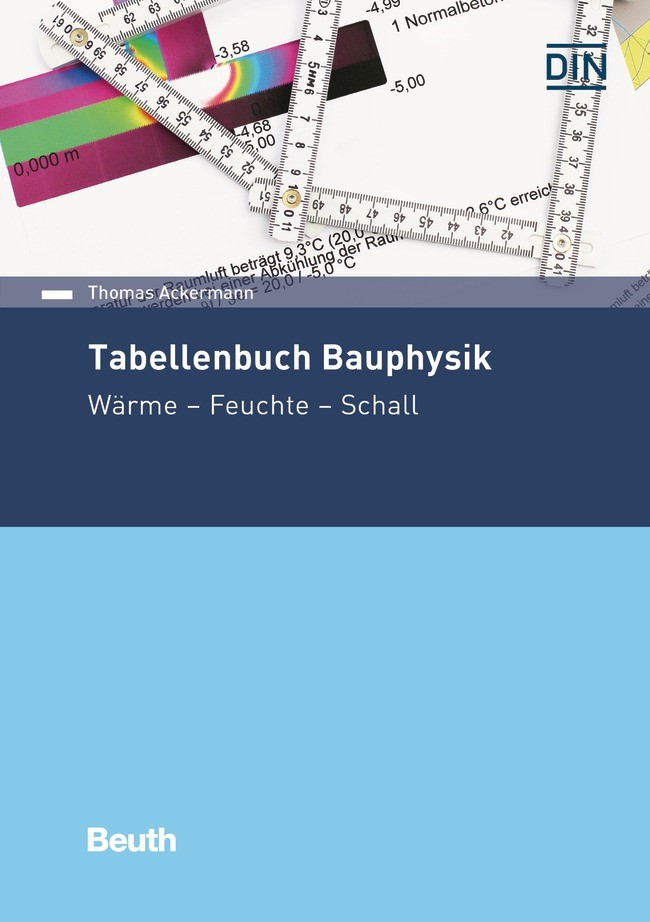 Tabellenbuch Bauphysik | Ackermann, 2017 | Buch (Cover)