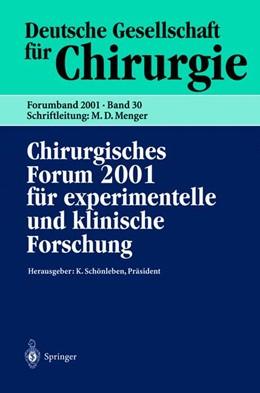 Abbildung von Schönleben / Neugebauer / Hartel | Chirurgisches Forum 2001 für experimentelle und klinische Forschung | 2001 | 118. Kongreß der Deutschen Ges... | 30