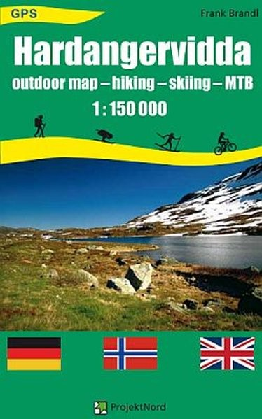 Hardangervidda 1 : 150 000 | Brandl | 1. Auflage, 2013 (Cover)