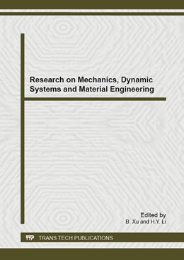 Abbildung von Xu / Li | Research on Mechanics, Dynamic Systems and Material Engineering | 2013 | Selected, peer reviewed papers... | Volume 625