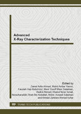 Abbildung von Ahmad / Yarmo | Advanced X-Ray Characterization Techniques | 1. Auflage | 2013 | Volume 620 | beck-shop.de