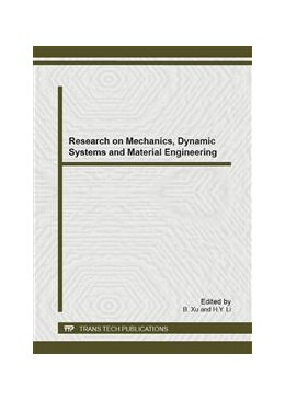 Abbildung von Xu / Li   Research on Mechanics, Dynamic Systems and Material Engineering   2013   Selected, peer reviewed papers...   Volume 625