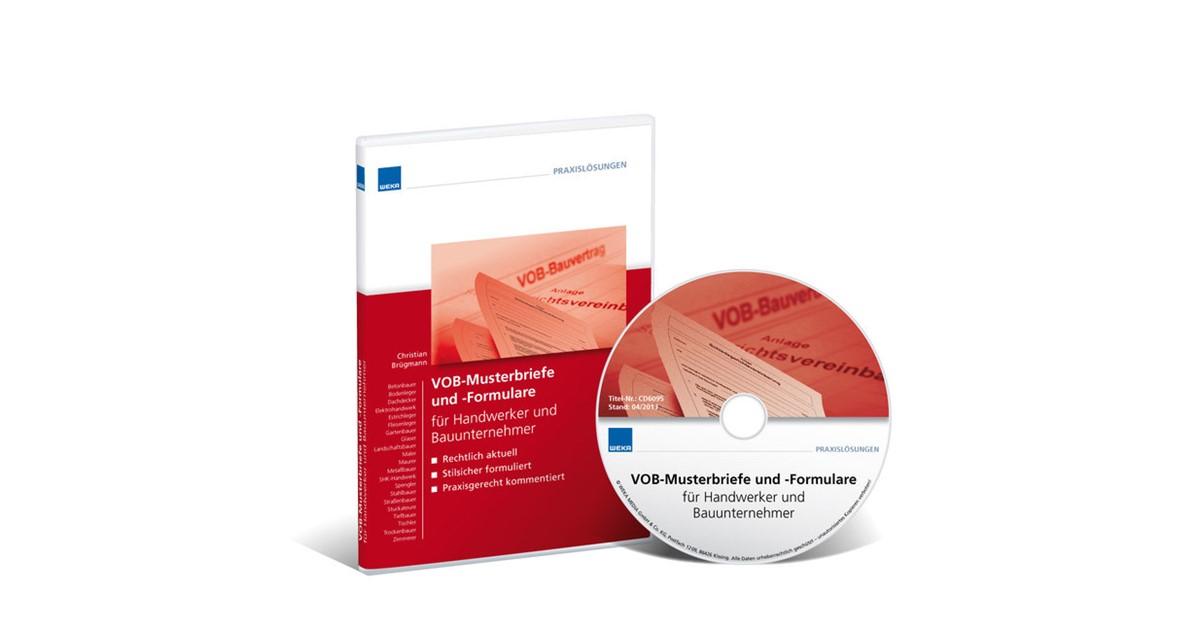 Vob Musterbriefe Und Formulare Für Bauunternehmer Brügmann 2018