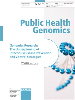 Abbildung von Malik | Genomics Research: The Underpinning of Infectious Disease Prevention and Control Strategies | 2013 | Special Topic Issue: Public He...