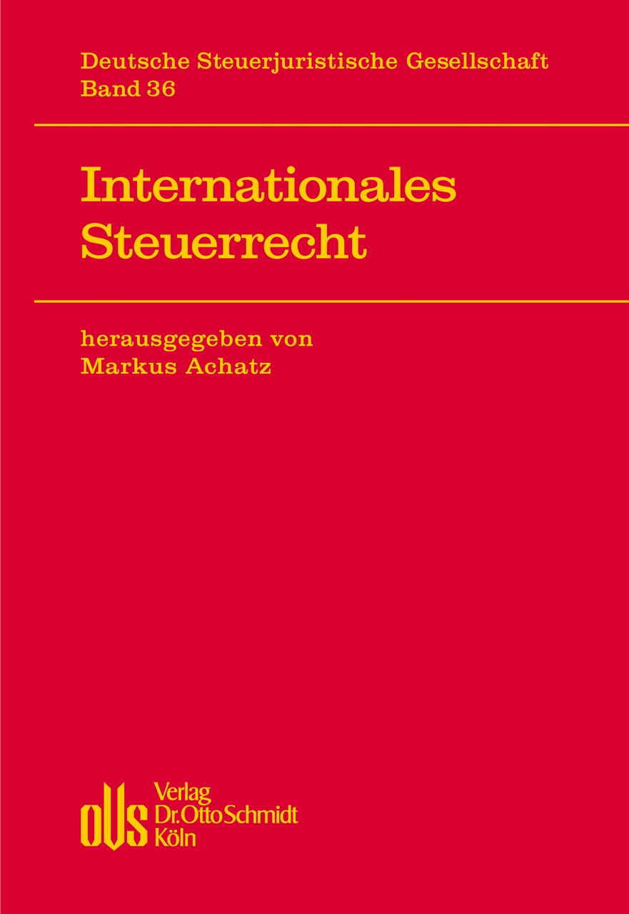 Internationales Steuerrecht | Achatz ( Hrsg.), 2013 | Buch (Cover)