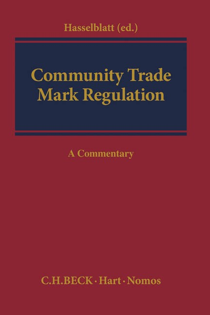 Community Trade Mark Regulation (EC) No 207/2009 | Hasselblatt (ed.), 2015 | Buch (Cover)