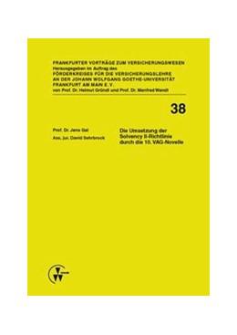 Abbildung von Gal / Sehrbrock | Die Umsetzung der Solvency II-Richtlinie durch die 10. VAG-Novelle | 2013 | 38