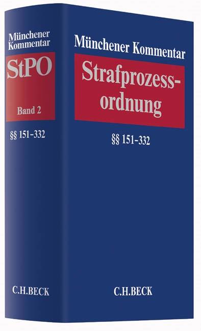 Münchener Kommentar zur Strafprozessordnung: StPO, Band 2: §§ 151-332 StPO, 2016 | Buch (Cover)