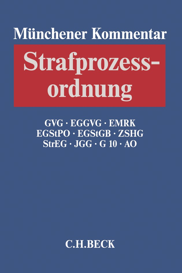 Münchener Kommentar zur Strafprozessordnung: StPO, Band 3/2: GVG, EGGVG, EMRK, EGStPO, EGStGB, ZSHG, StrEG, JGG, G 10, AO, 2018 | Buch (Cover)