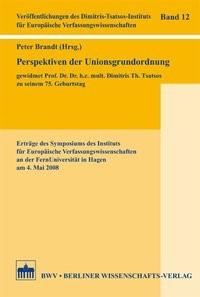 Abbildung von Brandt | Perspektiven der Unionsgrundordnung | 1. Auflage 2013 | 2013