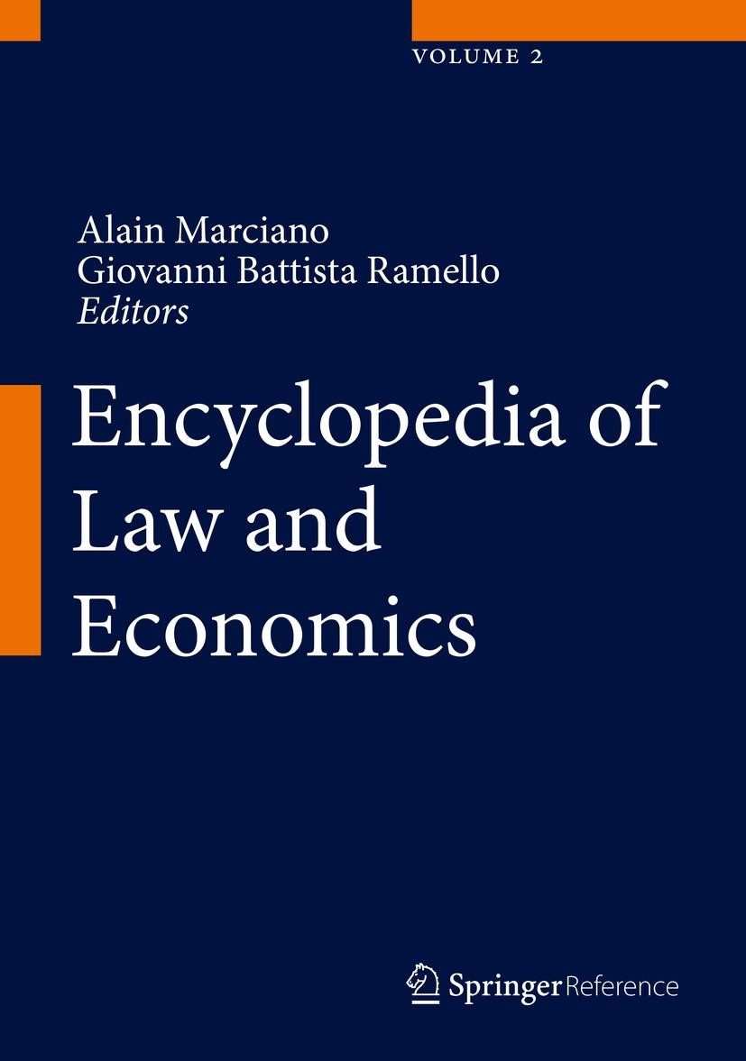 Abbildung von Marciano / Ramello   Encyclopedia of Law and Economics   1st ed. 2019   2019