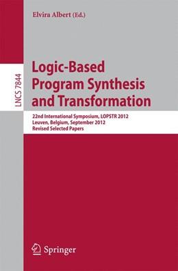 Abbildung von Albert | Logic-Based Program Synthesis and Transformation | 2013 | 22nd International Symposium, ...